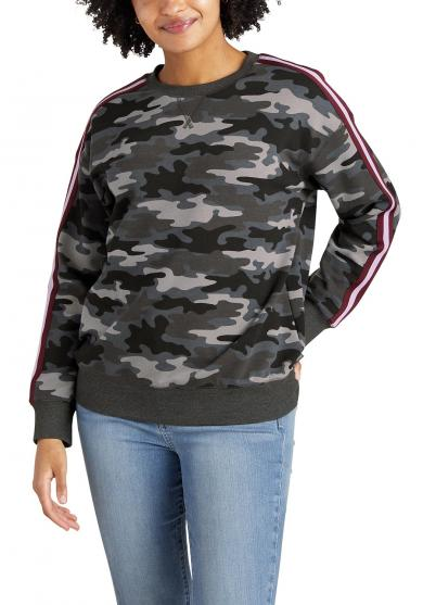 Cozy Camp Fleece Sweatshirt mit Zierband Damen