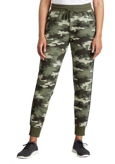 Cozy Camp Fleece Jogger - camouflage Damen