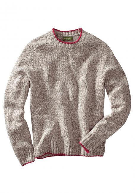 Wollpullover mit Rundhalsausschnitt