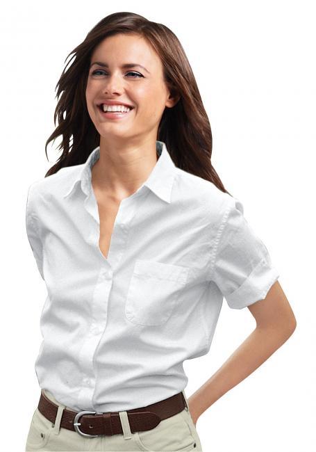 Kurzarm-Bluse mit Tasche