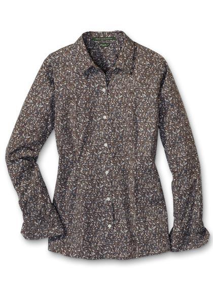 Knitterarme Bluse - Langarm - bedruckt