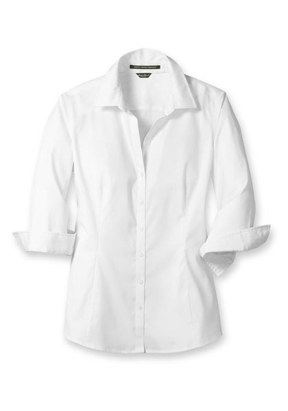 Knitterarme Bluse - 3/4-Arm - Uni