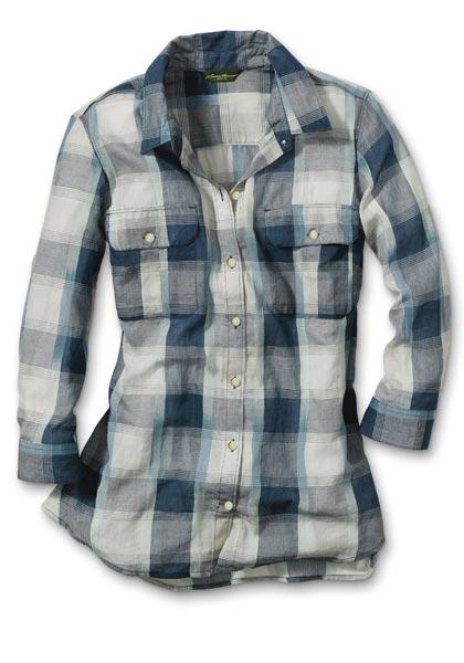 Bluse mit 3/4-Arm gemustert