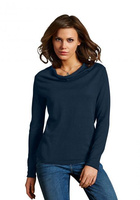 Wasserfall-Pullover mit Leinen