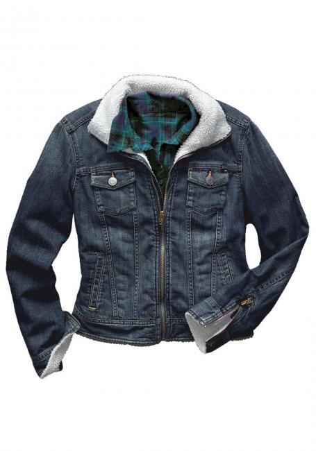 Jeansjacke mit Sherpafutter