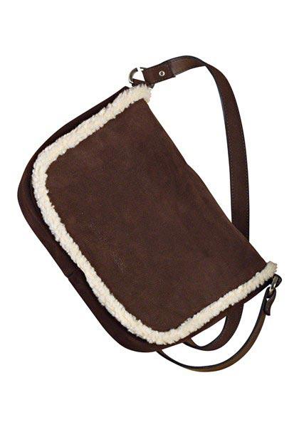 Veloursleder-Handtasche