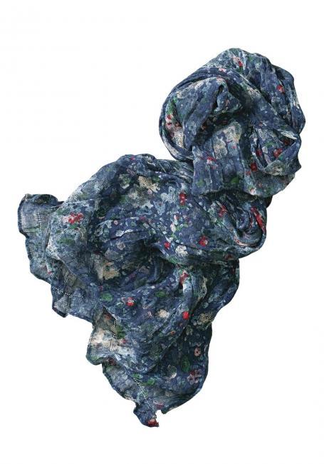 Baumwollschal mit Floraldruck