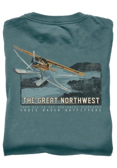 T-Shirt mit Flugzeug-Motiv