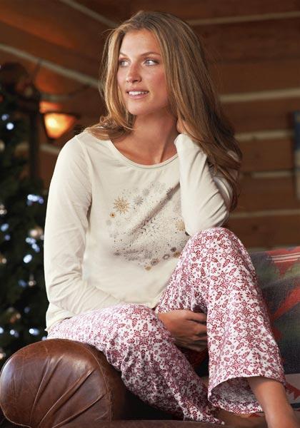 Pyjamashirt mit Schneeflocken