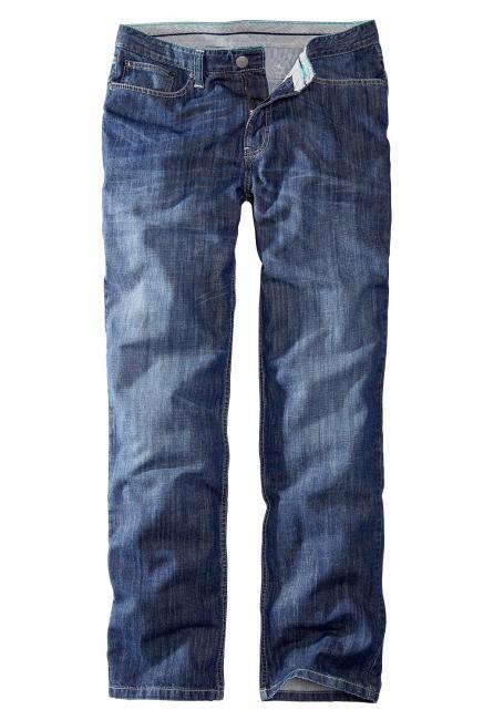 Straight Leg Jeans mit Kontrastnähten