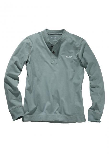 Henleyshirt mit Motivdruck