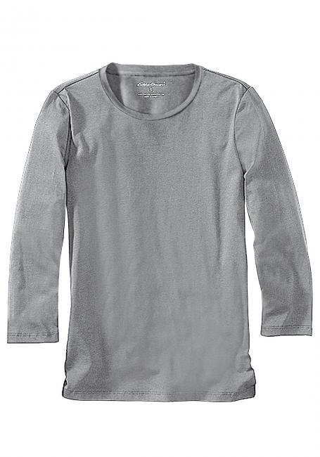 Shirt mit 3/4-Arm und Rundhalsausschnitt Sale Angebote Klein Döbbern