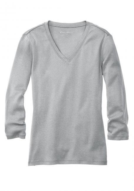 Laubsdorf Angebote Shirt mit 3/4-Arm und V-Ausschnitt