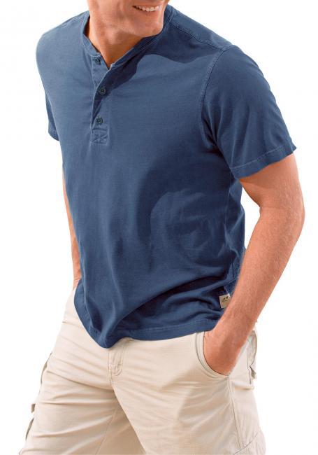 T-Shirt mit Knopfleiste