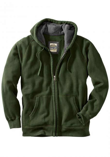 Sweatshirtjacke mit Kapuze