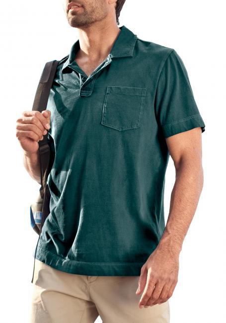 Kurzarm-Poloshirt mit Streifen