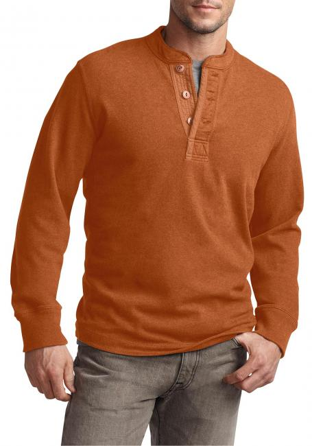 Henley-Sweatshirt