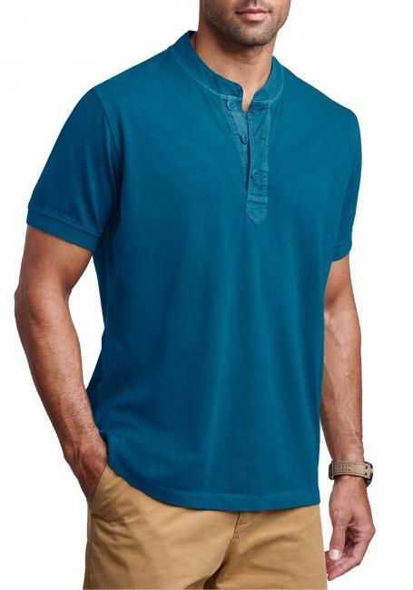 Henleyshirt in Used-Optik