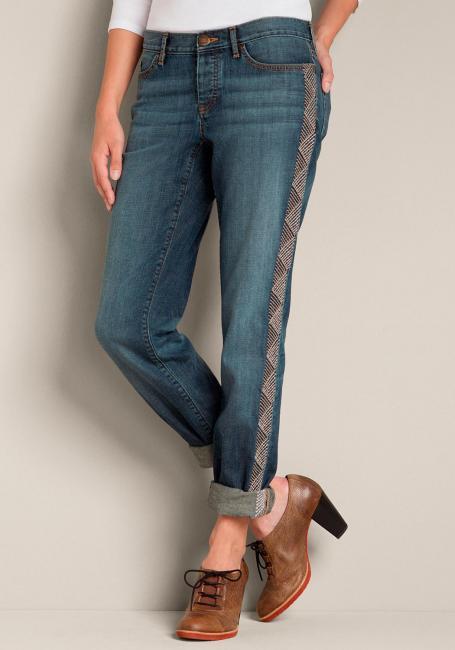 Boyfriend bestickte Jeans
