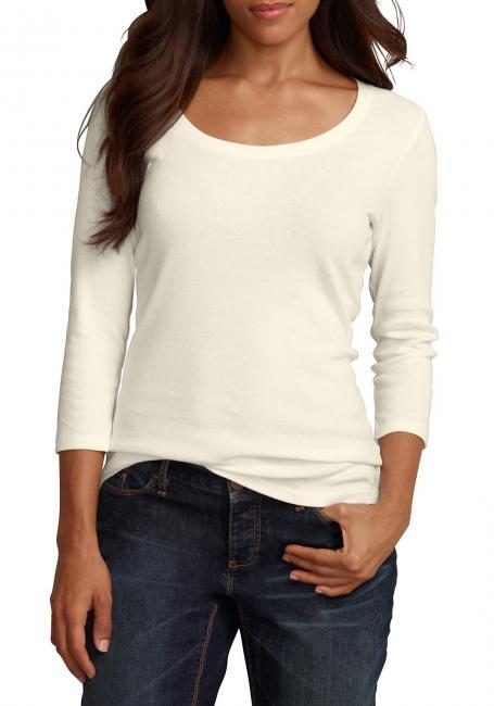 Shirt mit 3/4-Arm und Rundhalsausschnitt Sale Angebote Haasow