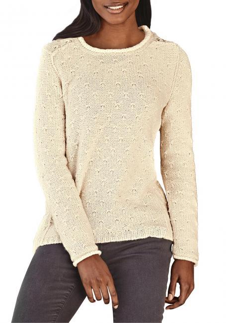 Pullover mit Rollsaum