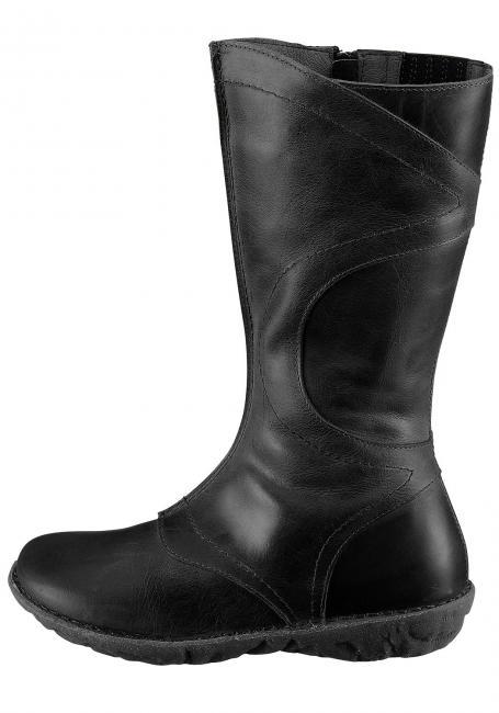 Leder-Stiefel mit Zierstickerei