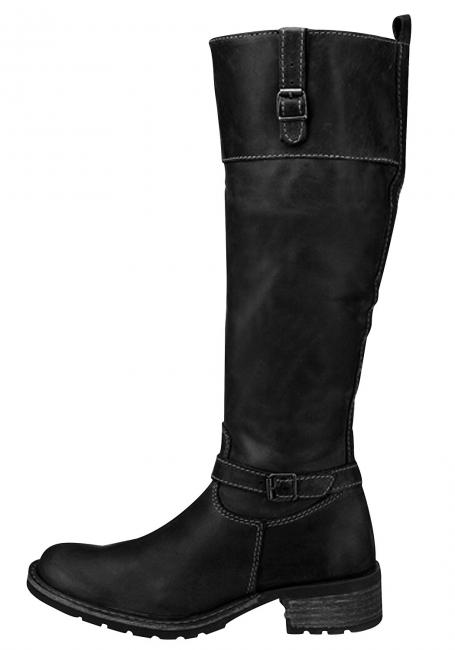 Leder-Stiefel in Antik-Optik