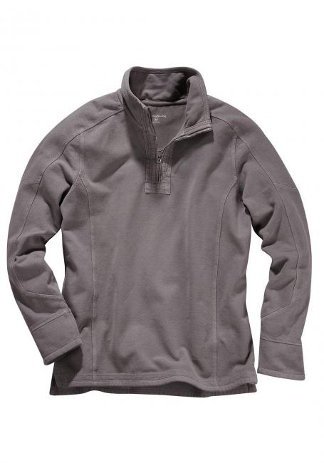Piqué-Stehkragensweatshirt