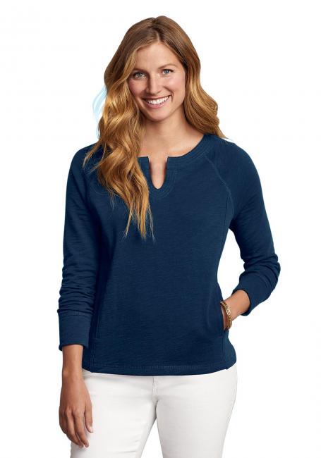 Sweatshirt mit Y-Ausschnitt