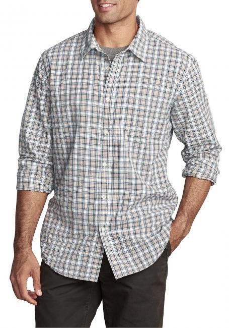 Seersuckerhemd mit Langarm