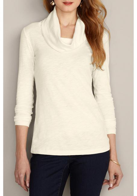 Shirt mit Schalkragen