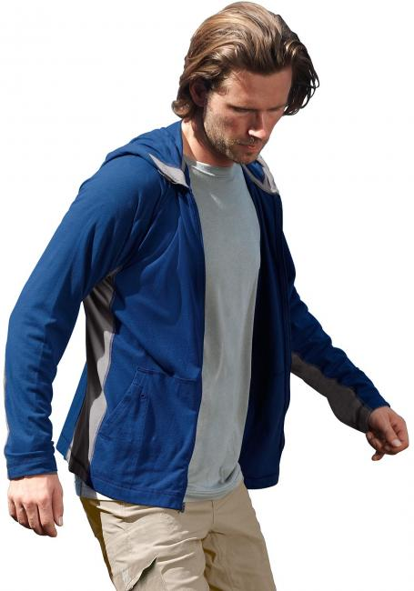 Leichte Shirtjacke mit Kapuze