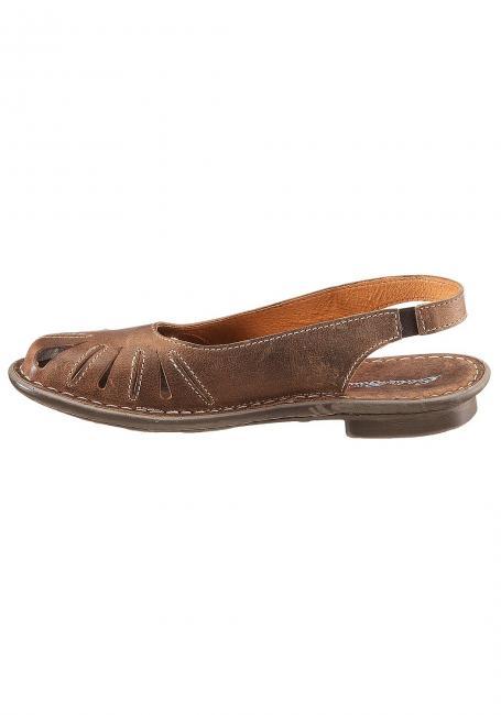 Fettleder-Sandale