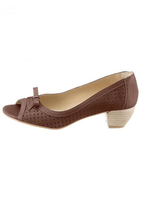 Leder-Sandale mit offenem Zehenbereich