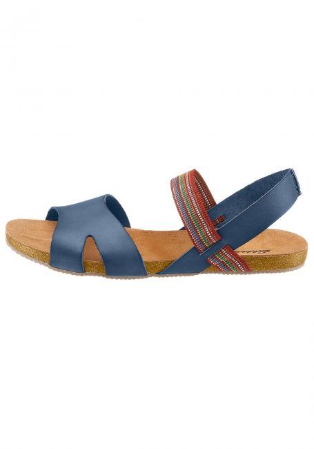 Leder-Sandale mit Elastikriemen