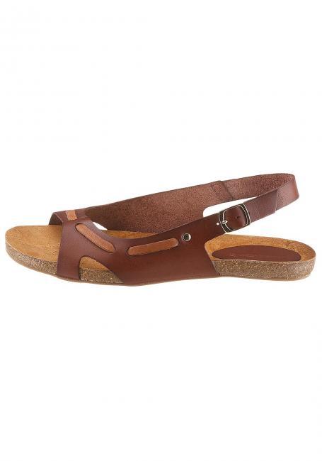 Leder-Sandale mit eingearbeitetem Lederband