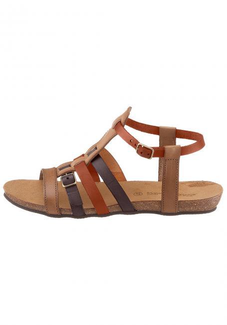 Leder-Sandale mit schmalen Riemen