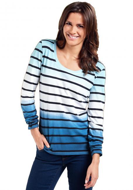 Dip-Dye-Shirt geringelt