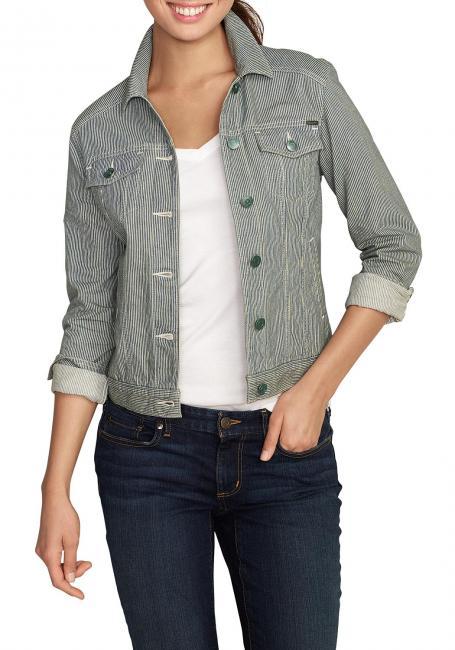Jeansjacke mit Seitentaschen