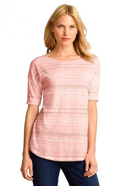 Kurzarm T-Shirt mit angeschnittenen Schultern