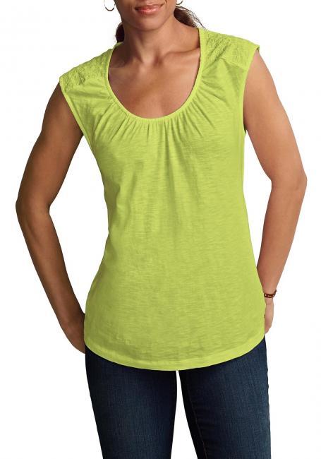 Shirt-Tunika mit Web-Einsätzen
