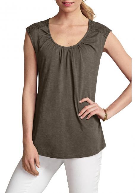 Guhrow Angebote Shirt-Tunika mit Web-Einsätzen