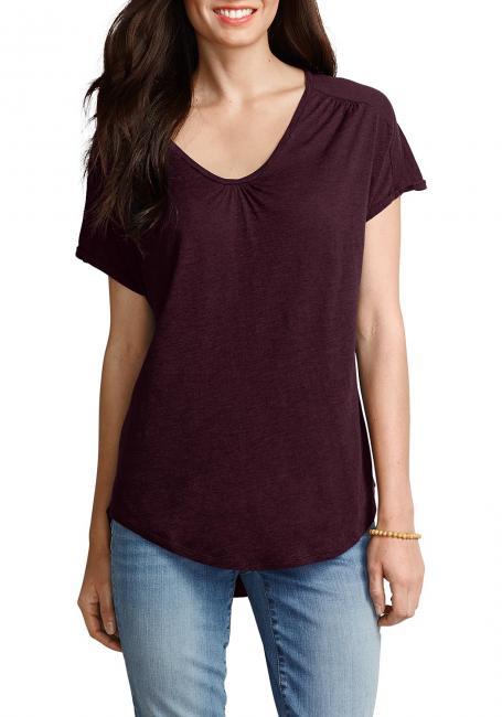 Shirt-Tunika mit Raffung