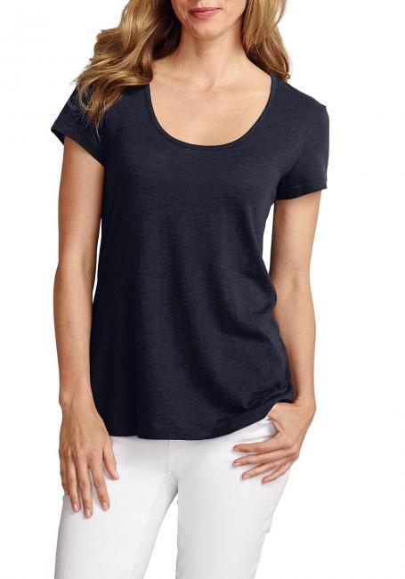 Slub-Shirt mit Kurzarm