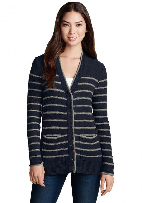 Cardigan gestreift