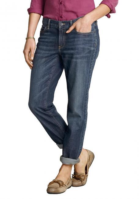 Boyfriend Jeans bedruckt
