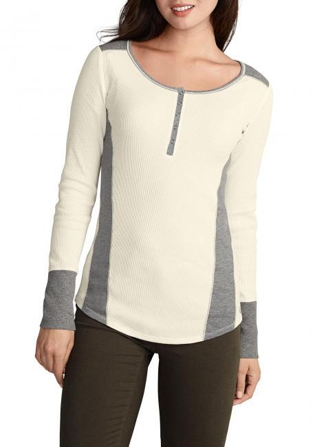 Henleyshirt mit Y-Ausschnitt