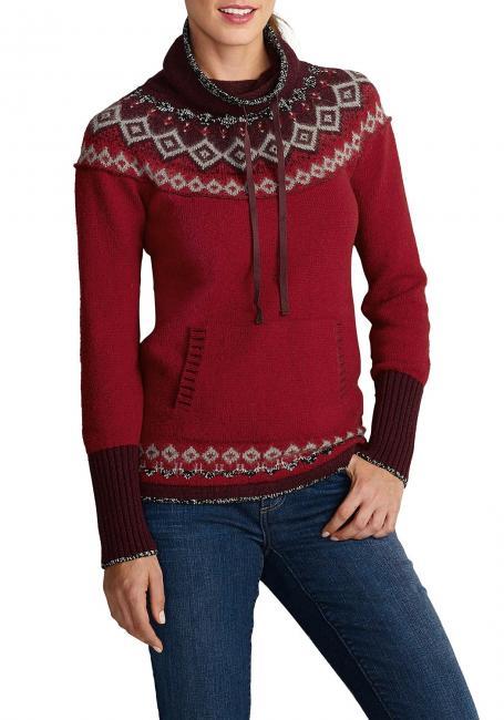 Pullover mit weitem Stehkragen