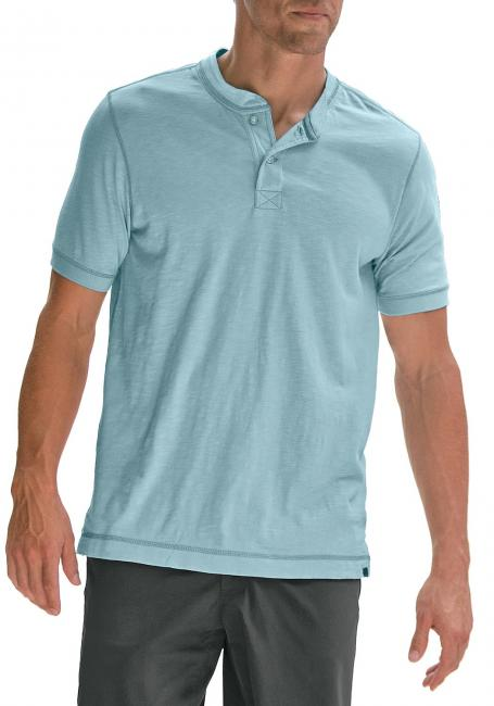 Slub-Henleyshirt mit Seitenschlitzen