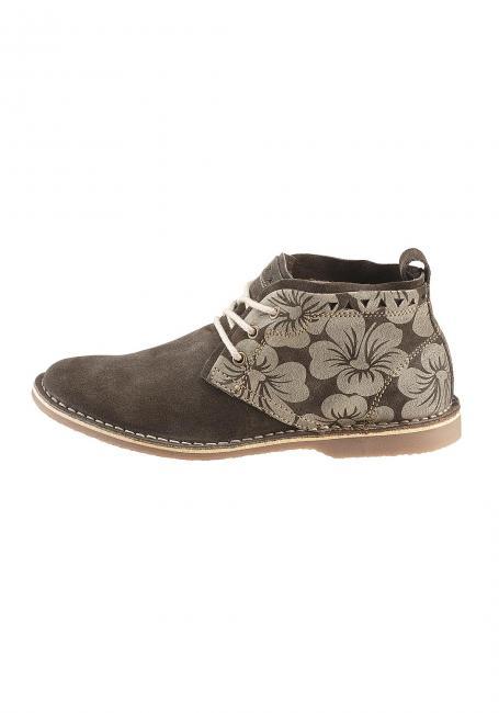 Veloursleder-Schuh bedruckt